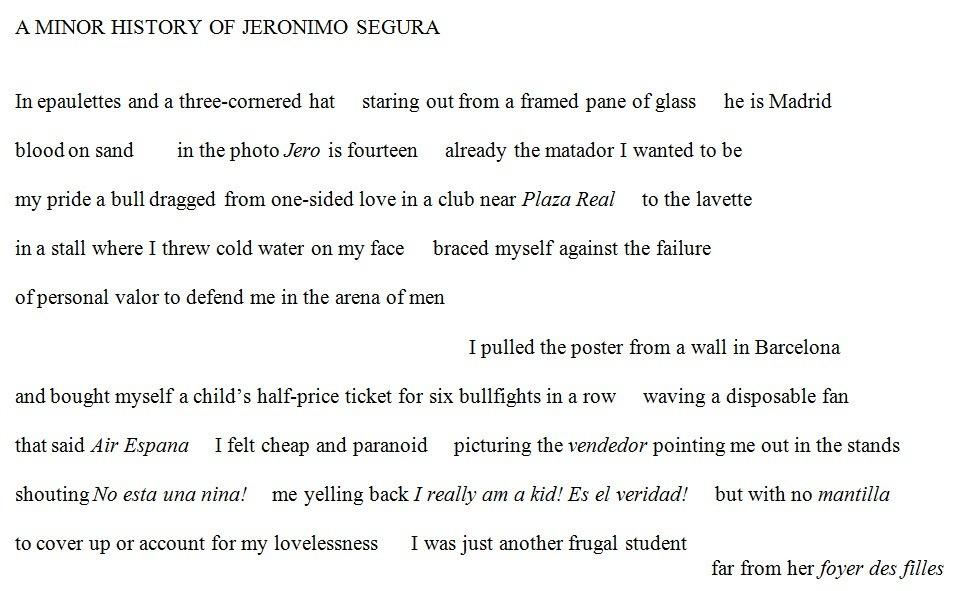 A Minor History of Jeronimo Segura