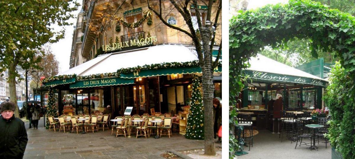 Les Deux Magots and Las Closerie de Lilas