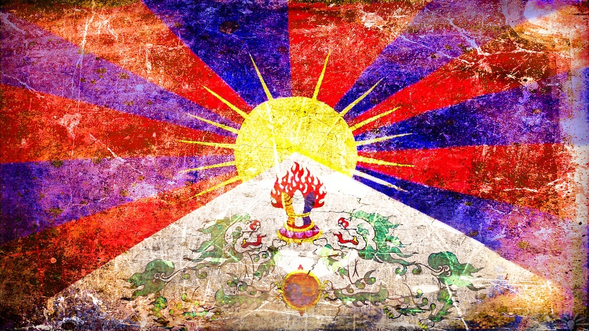 Tibet Flag, Photo credit AK Rockefeller