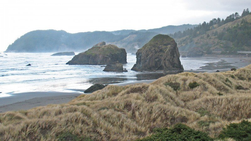 Southern Oregon Coast in Winter