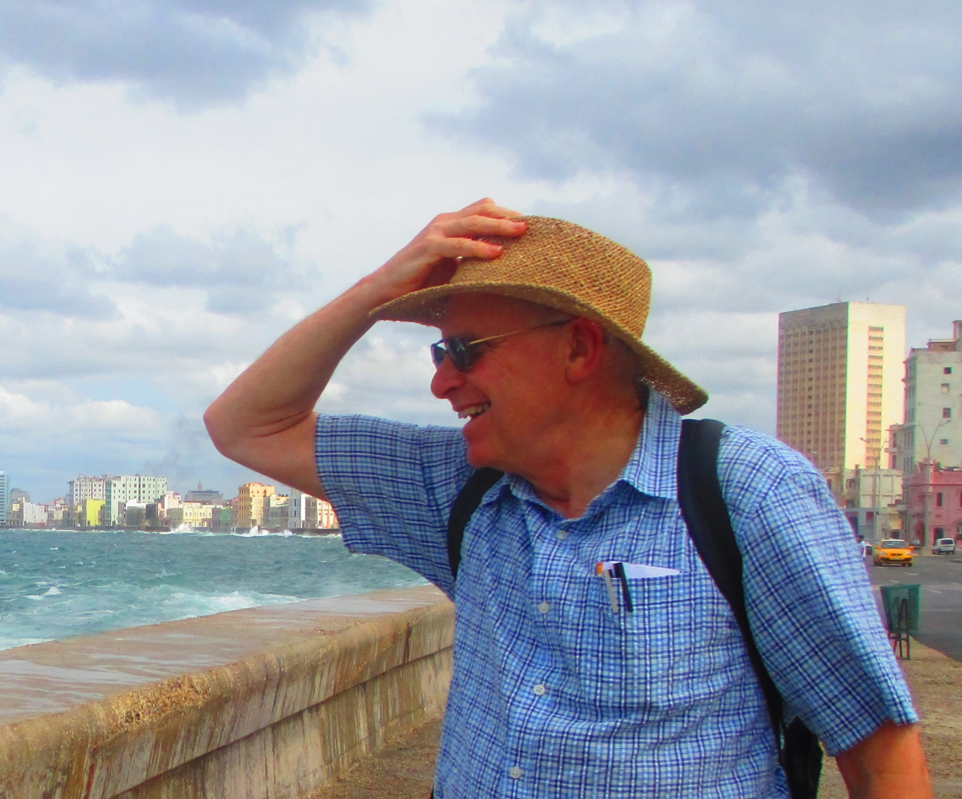 Peter on Havana's Malecón
