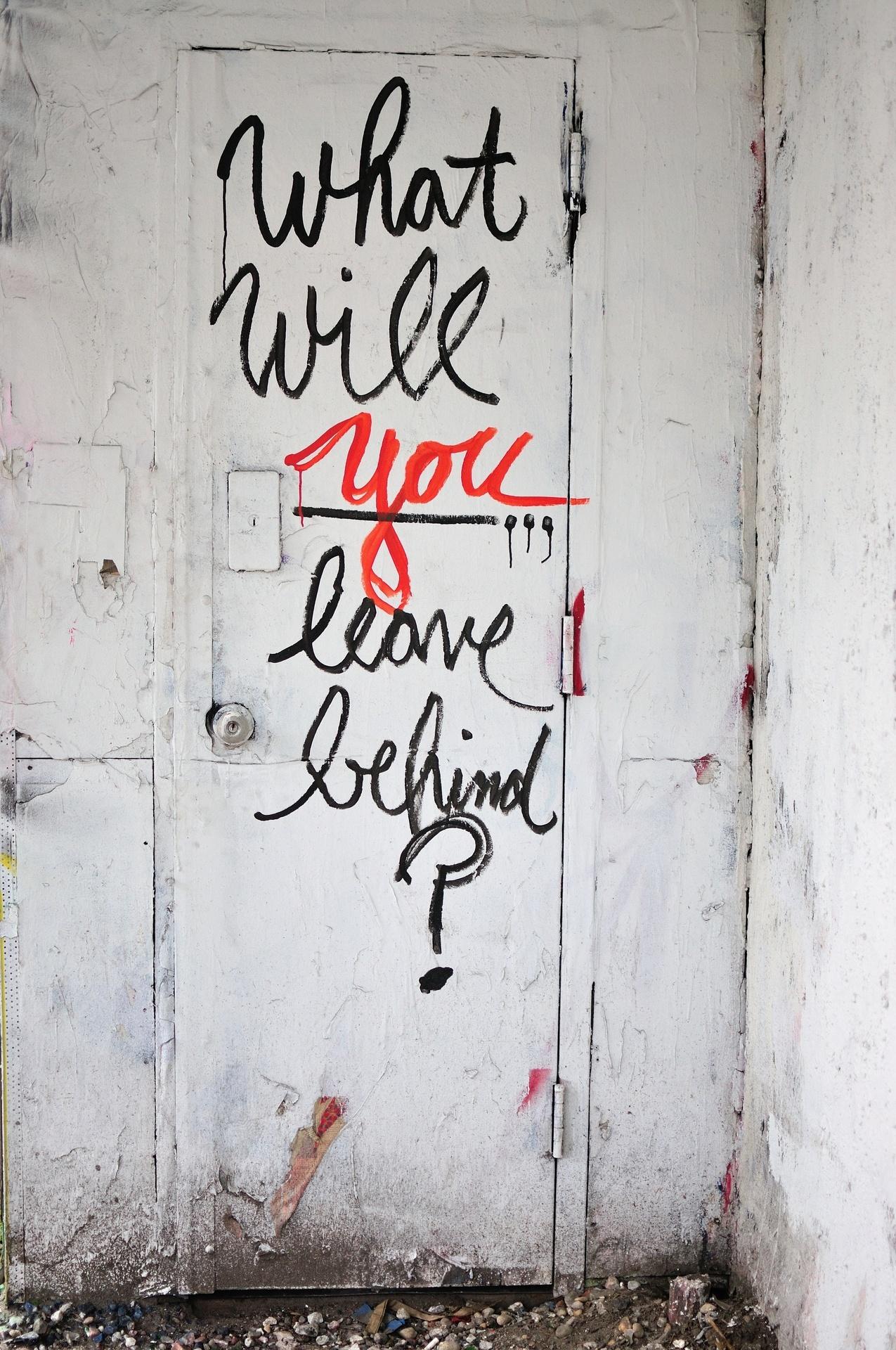 leave behind door