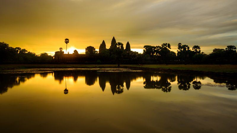 Angkor Wat Sunrise Cambodia by WIL