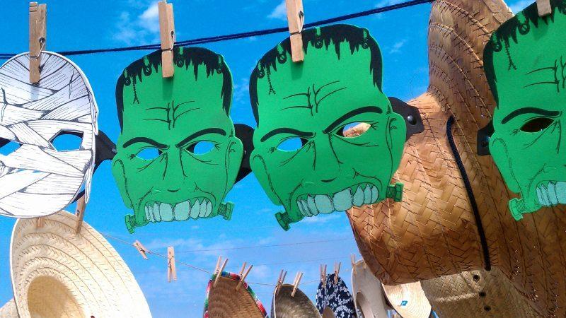 """Keoni Cabral, """"Frankensteins!! Mummy! hats."""""""