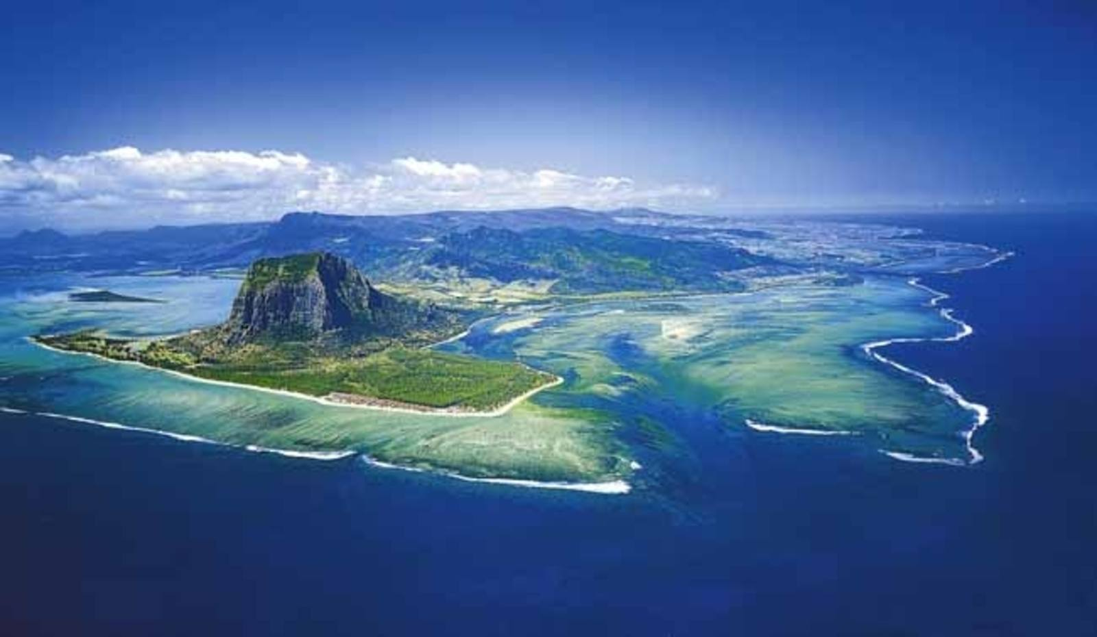 Aerial Photograph of Mauritius